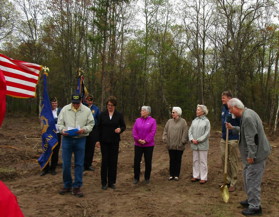 Across the Pond Veterans Park ground breaking ceremony in Iron River, Wisconsin