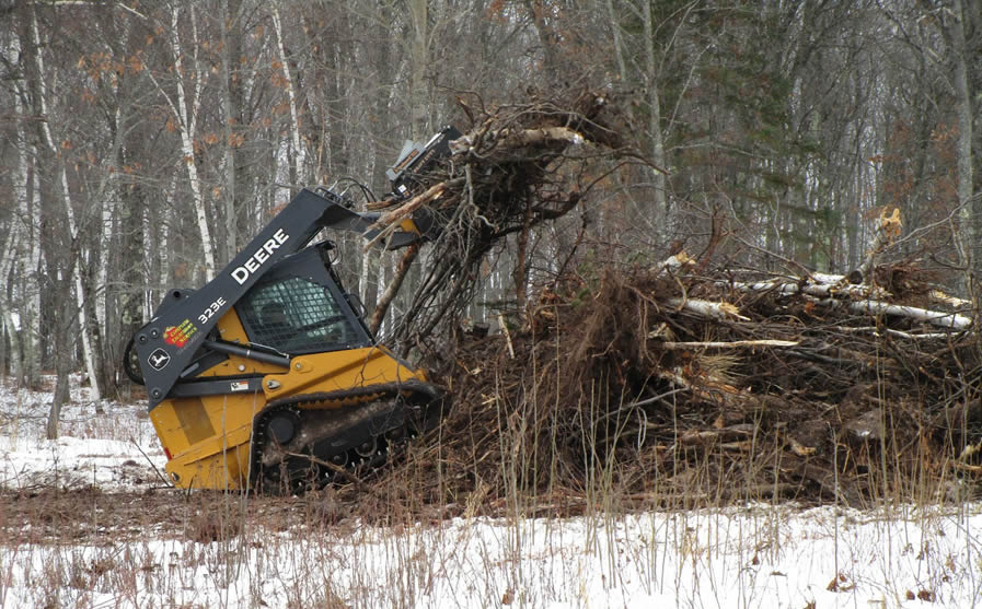 Across the Pond Veterans Park in Iron River begins land clearing
